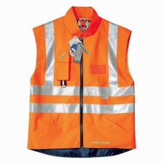 GILET IN GELB ODER ORANGE